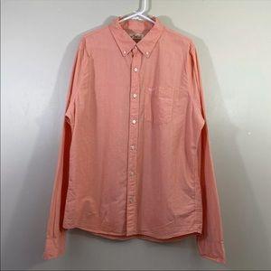 Hollister Mens Pink Button Up Casual Shirt Sz XL